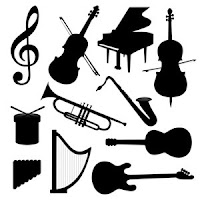 Musical Instruments, silhouette,