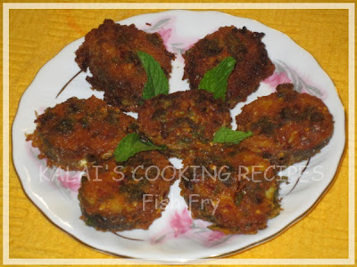 Mint Flavoured Fish Fry / Pudina Meen Varuval