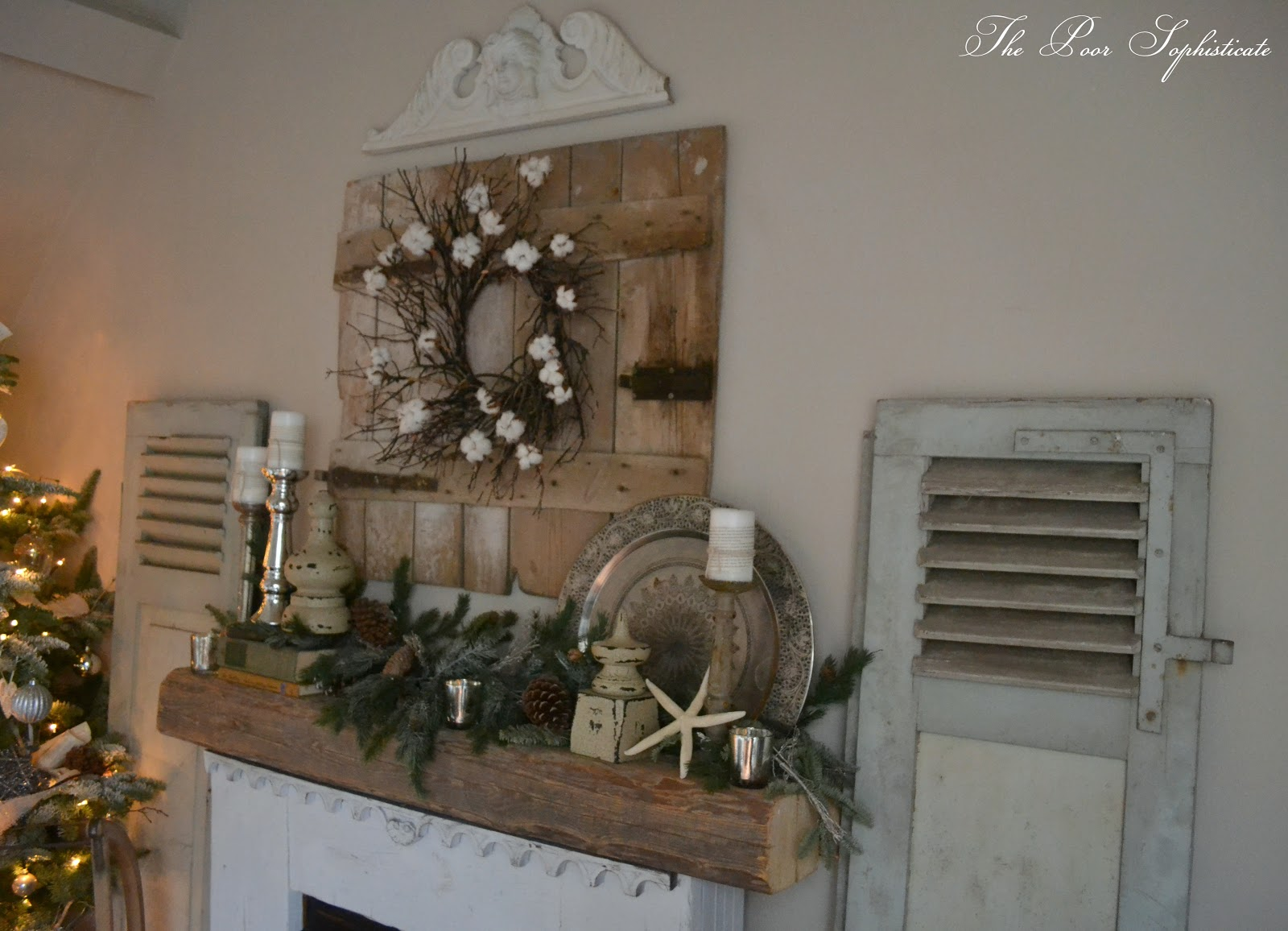 the poor sophisticate Farmhouse Shutters and Our Updated Living Room