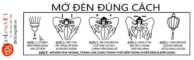 hdsg+denlongviet Hướng dẫn mở đèn lồng đúng cách