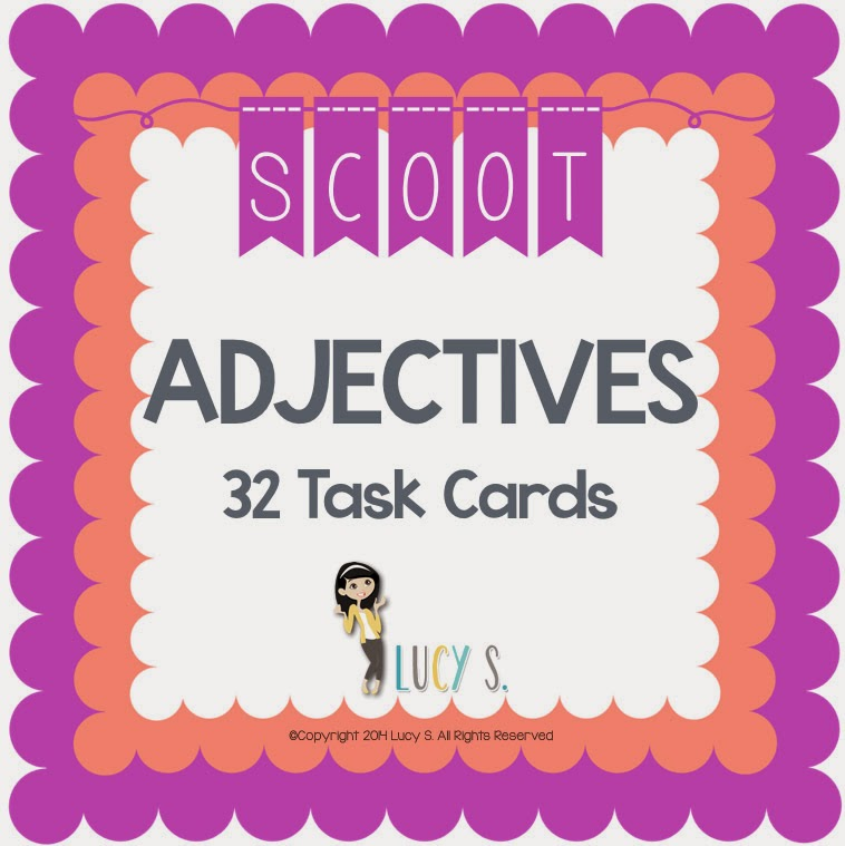 Adjectives Scoot - 32 task cards