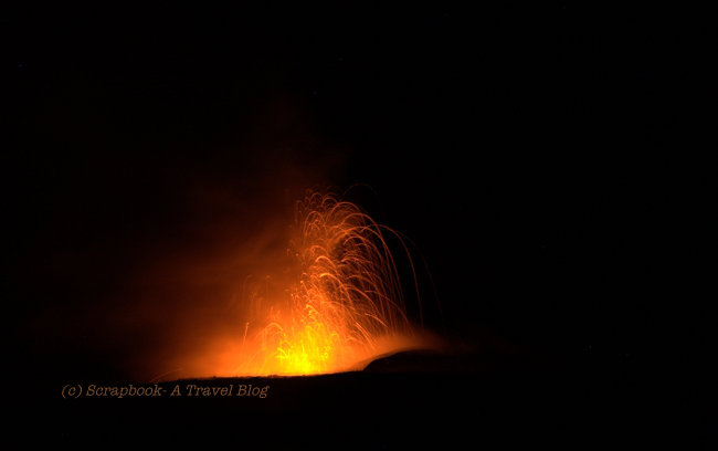 hawaii big island volcano national park fiery fountain