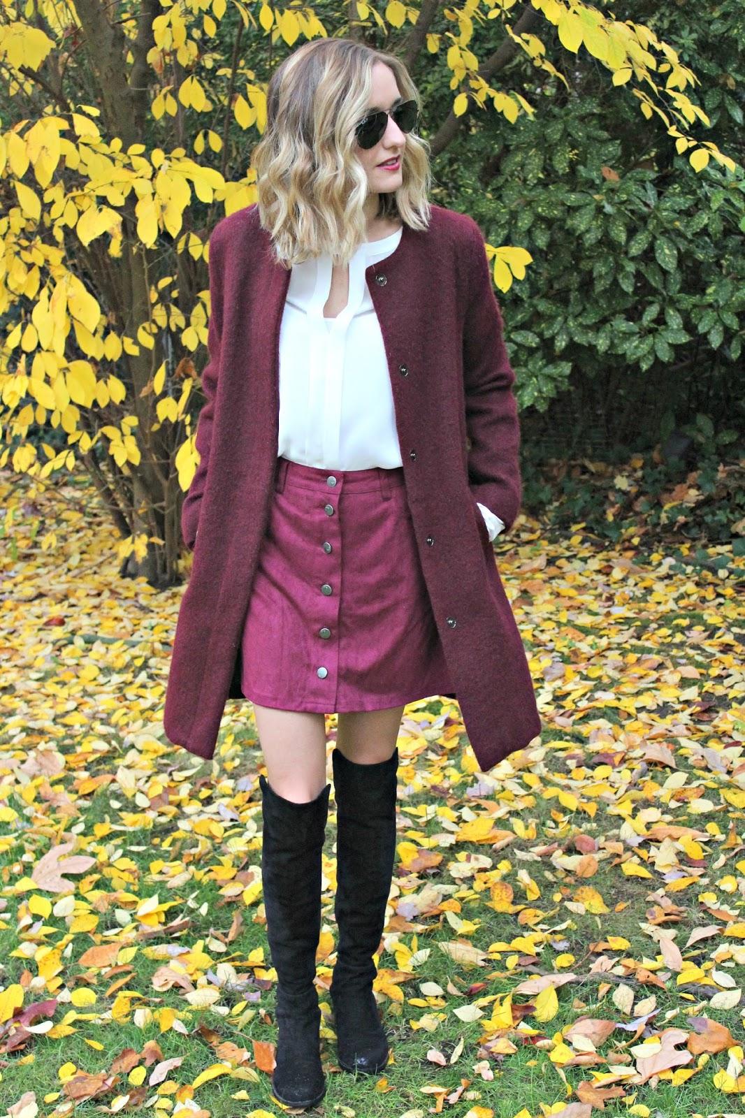 harmony & havoc burgundy skirt