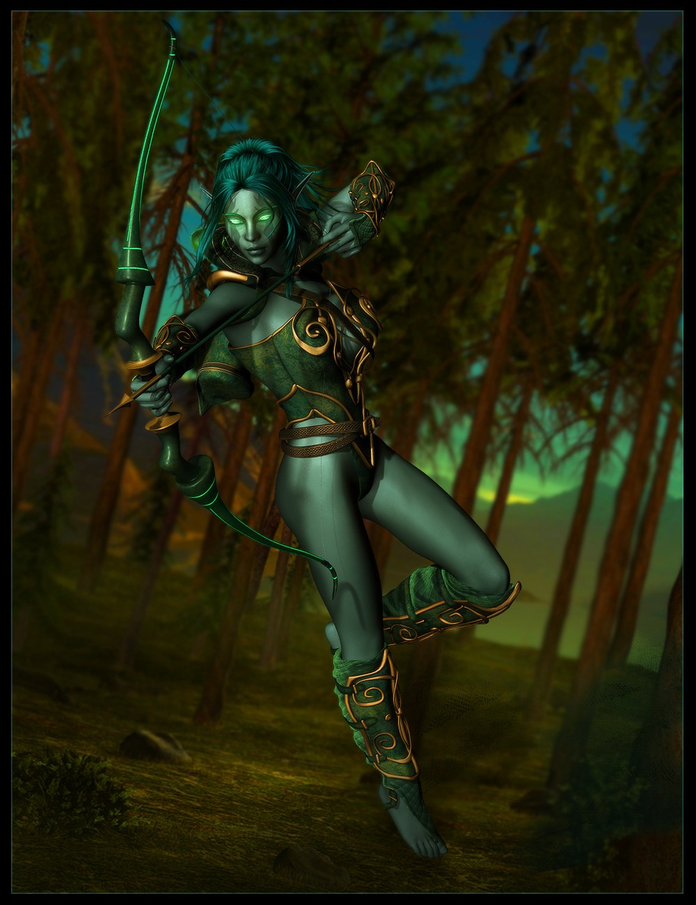 Dark elf pin-up 3d nackt clips