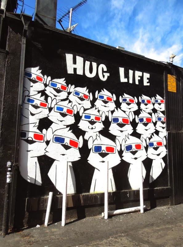 Hug Life wall mural