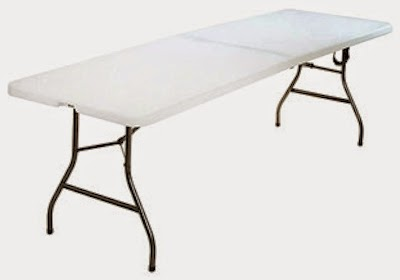 Inspirational Walmart has the Mainstays foot center fold table in white for only with free in store pickup Shipping is either or free with a