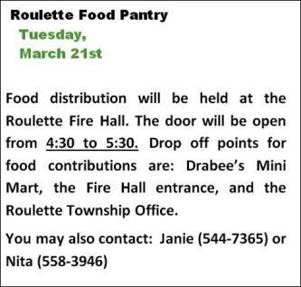 3-21 Roulette Food Pantry