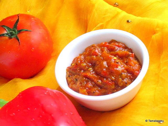 Red Capsicum-Tomato Chutney