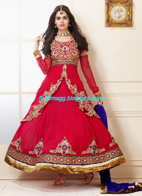 Fashion fok anarkali best dresses suits from famous for Best wedding dresses online