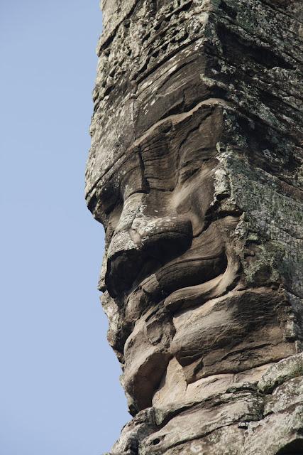 Detalle del templo de Bayón, complejo de templos de Angkor.