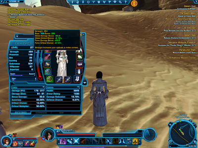 SWTOR - Jedi Knight Primary Stat