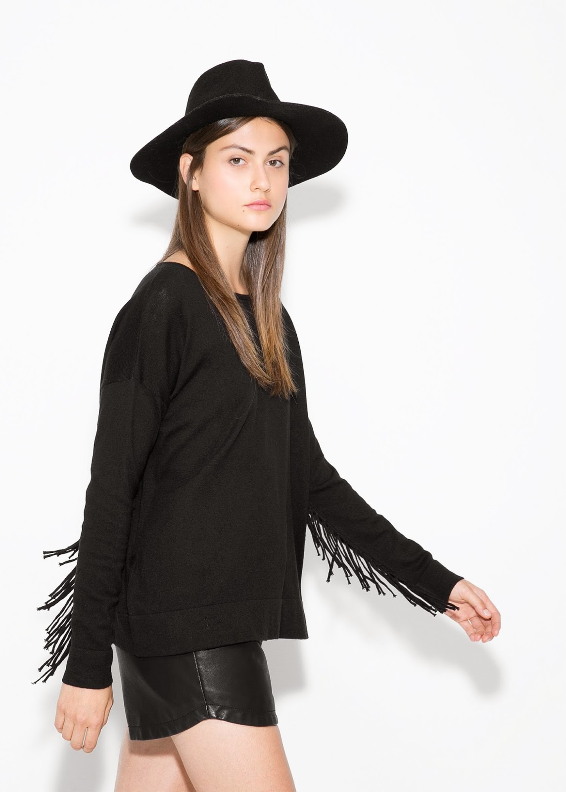 jumper with tassels