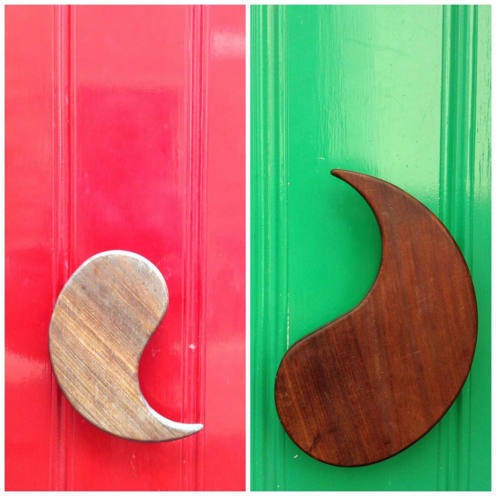 collage of modern doorknobs in Ghent
