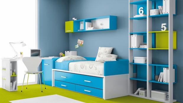 Dormitorio juvenil para varones recamara juvenil en azul - Dormitorio juvenil nino ...