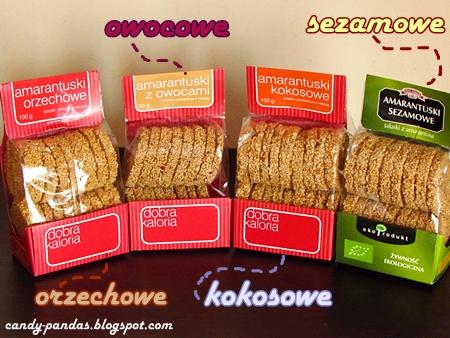 Amarantuski orzechowe/kokosowe/z owocami/sezamowe - Dobra Kaloria i ekoProdukt