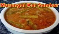 Murungai Kai (DrumStick) Sambar Recipe in Tamil