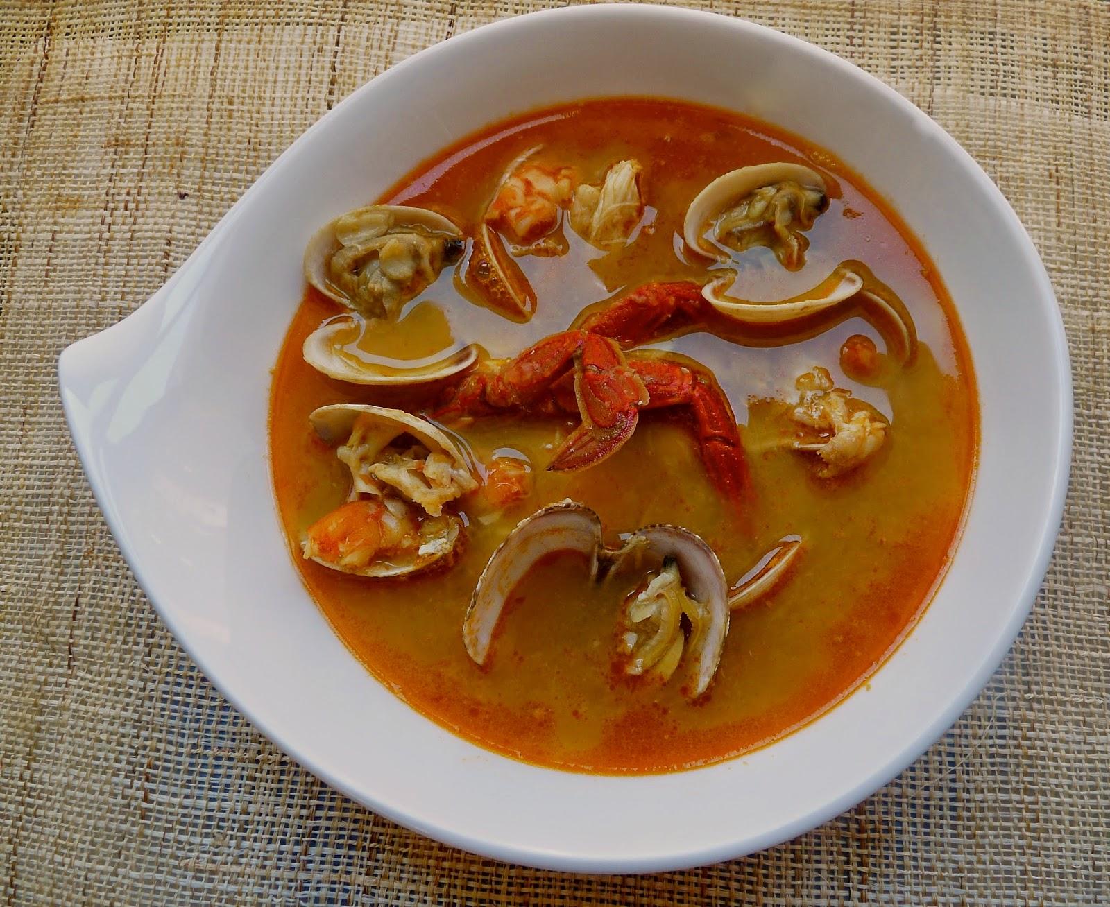 La cocina de piescu sopa de pescado y marisco - Sopa de marisco y pescado ...