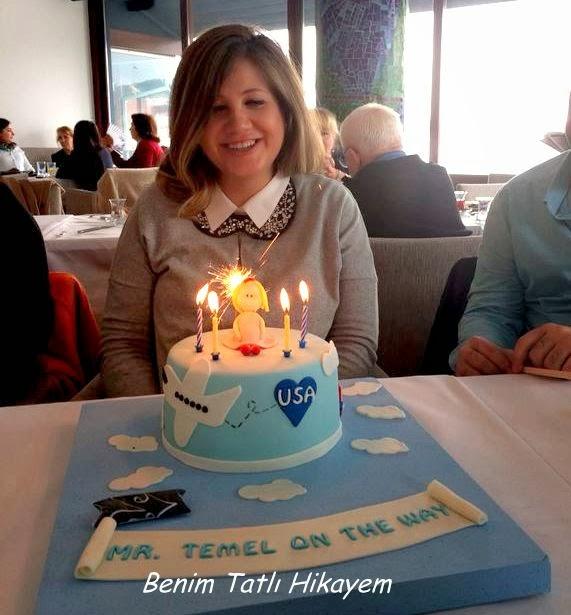 amerika temalı doğum pastası