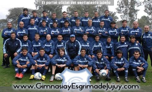 Plantel 2011 de Gimnasia de Jujuy. Lobo Jujeño