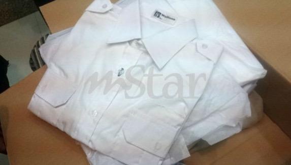 Baju kemeja putih yang dipakai Allahyarham Kapten Wan Amran