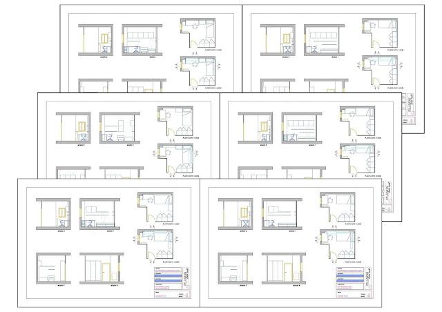 Planos low cost octubre 2012 for Dibujos de muebles para planos arquitectonicos