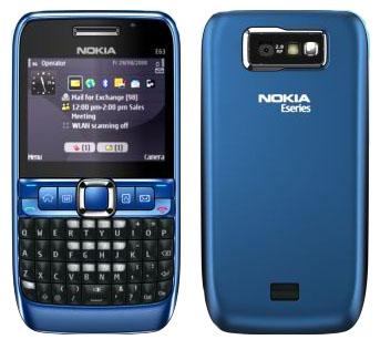 Nokia E63 Blue Mobile Mania: Nokia E6...