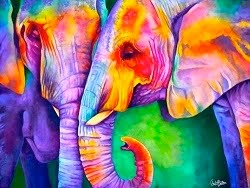 "... ""rainbow  elephants""..."