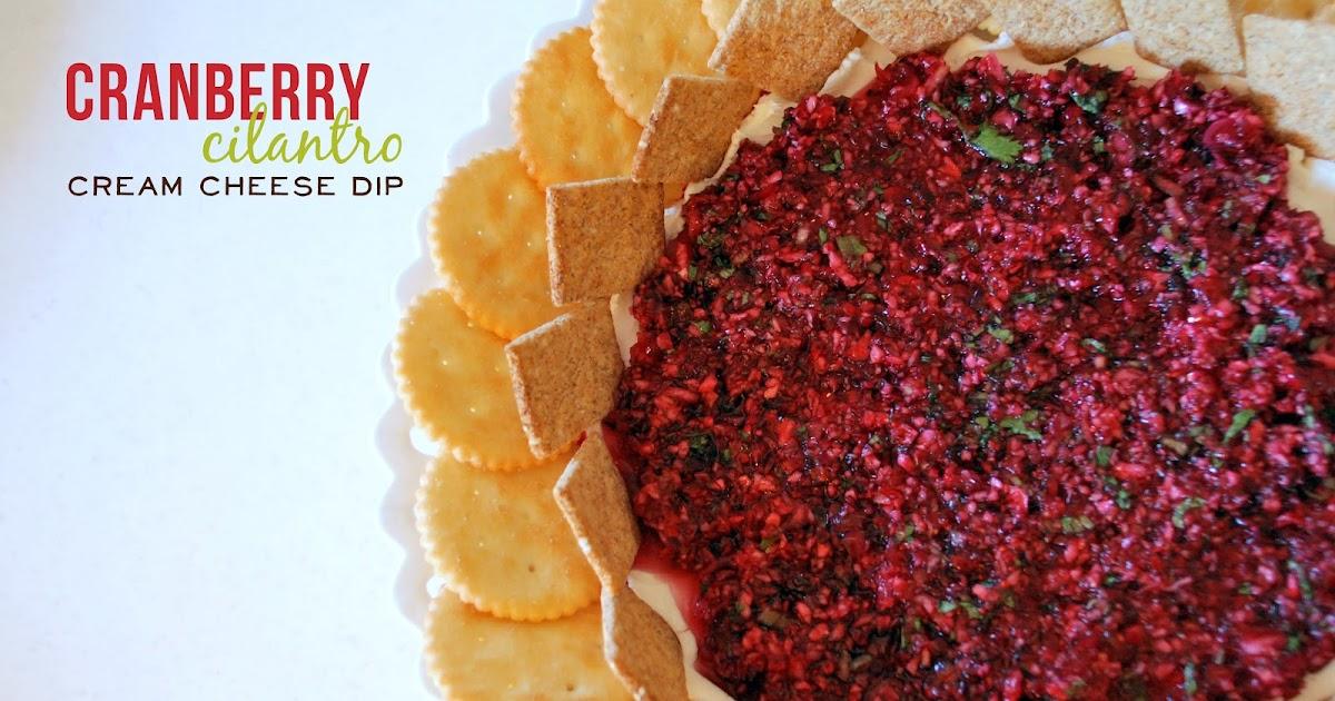 lizzy write: cranberry cilantro cream cheese dip