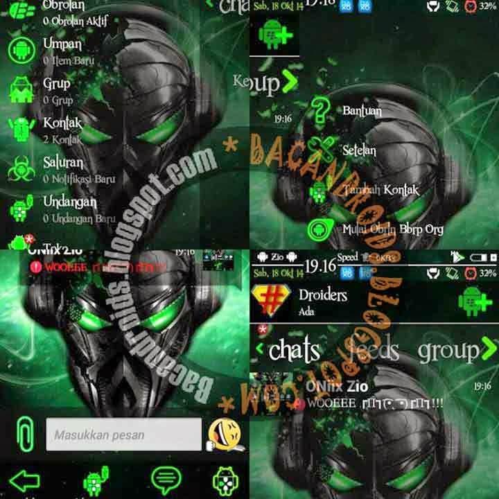BBM Wp Clone hijau transparan