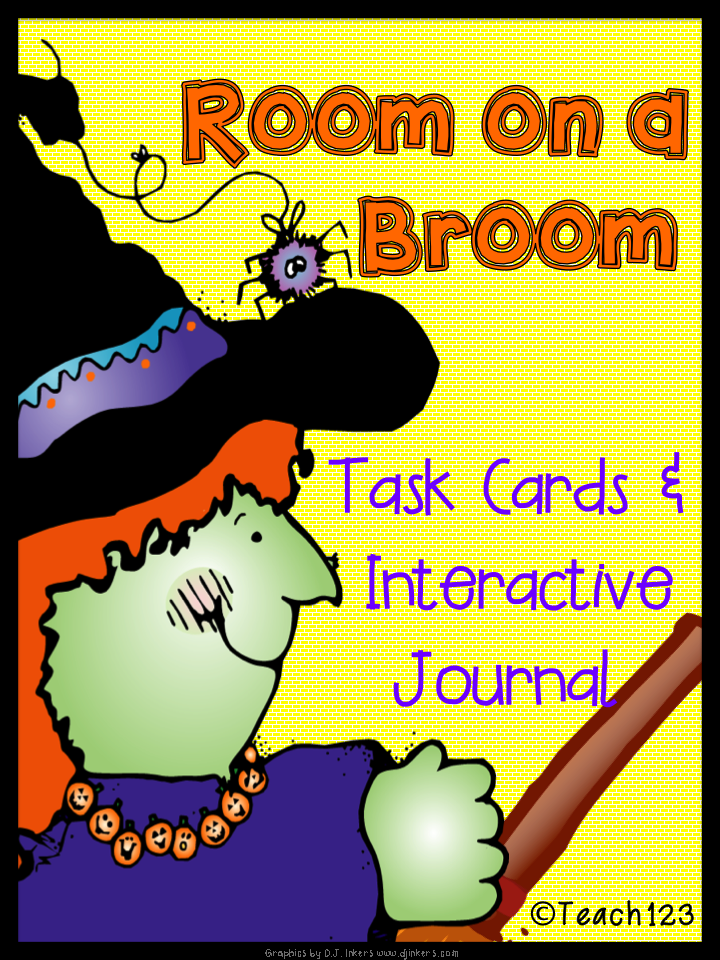 Room on a Broom: Interactive Journal & Task Cards