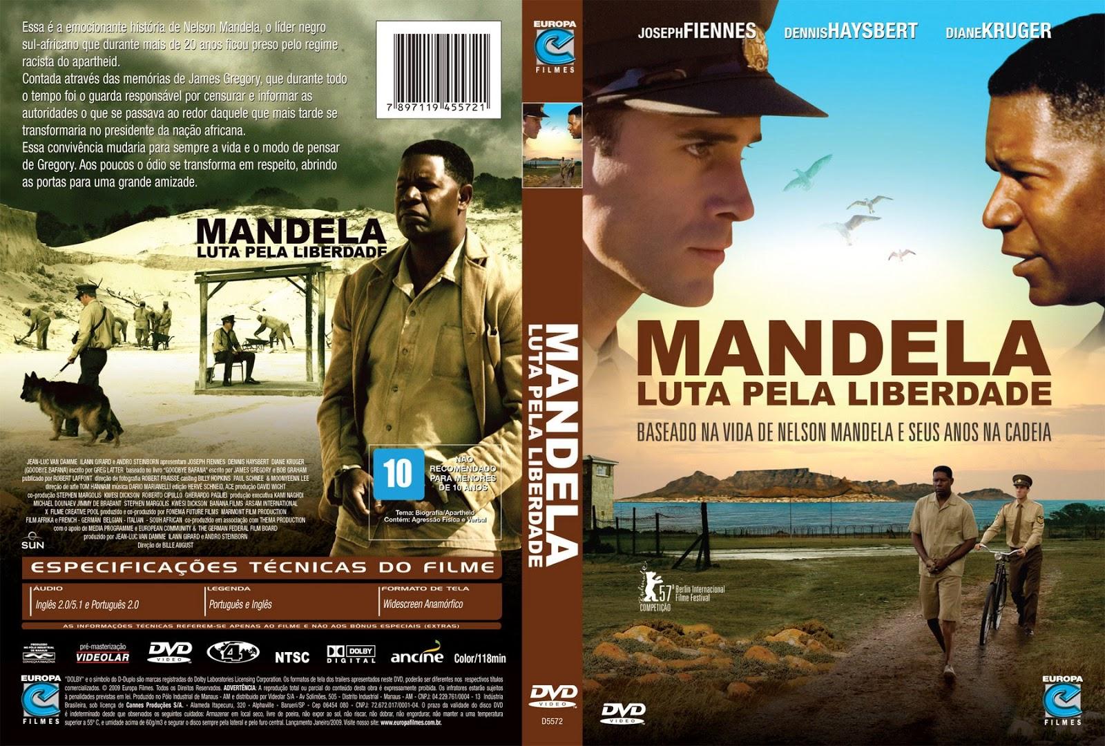 Capa DVD Mandela Luta Pela Liberdade