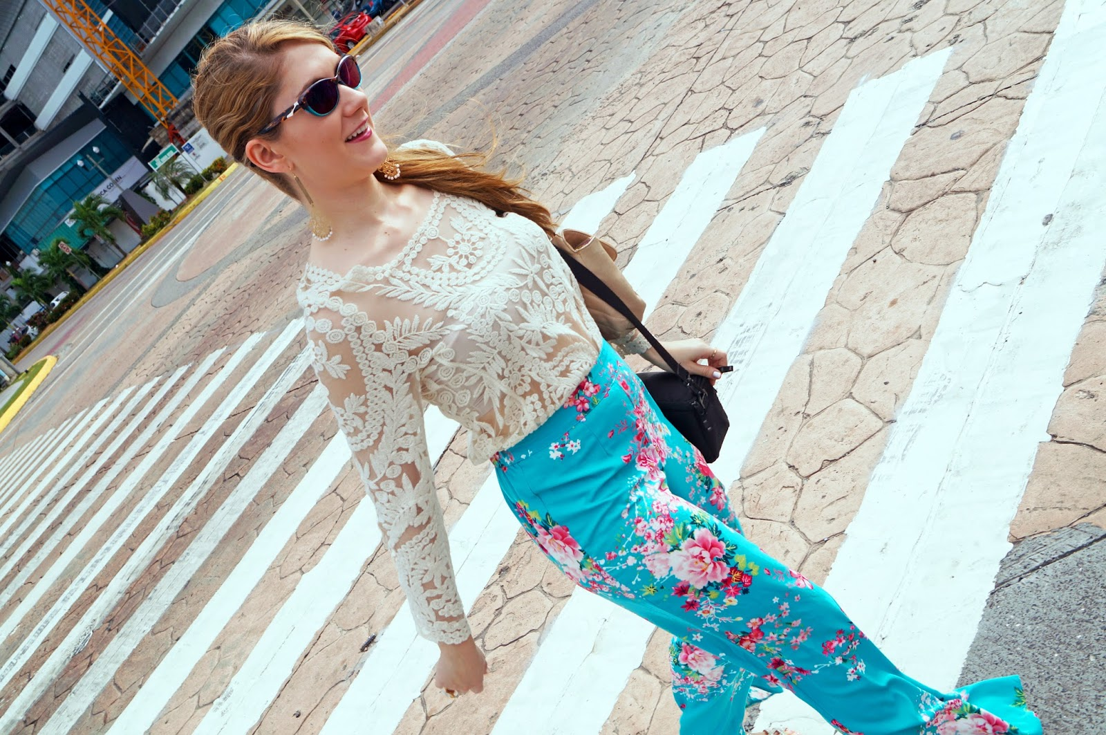 Sheinside Top, Forever21 Palazzo Pants