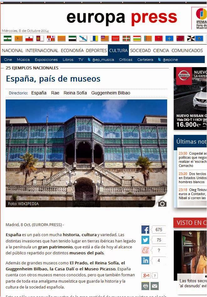 http://www.europapress.es/cultura/noticia-espana-pais-museos-20141008085204.html