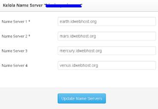 kelola nameserver IDwebhost