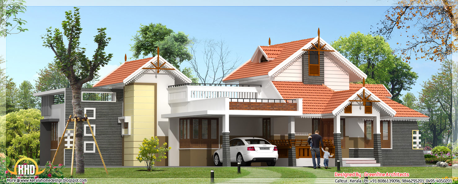 beautiful 4 bedroom one floor house in kerala 1900 sq ft home