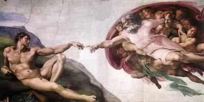 """""""A Criação de Adão"""" (1508-1512)  de Michelangelo Buonarroti"""