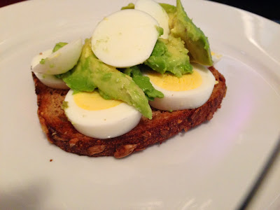 Snack on this: Eggs on bread with Avocado