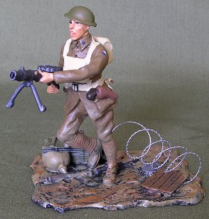 WETS WWI Aussie Lewis Gunner painted by John O'Brien.  Master figure by Alan Caton.