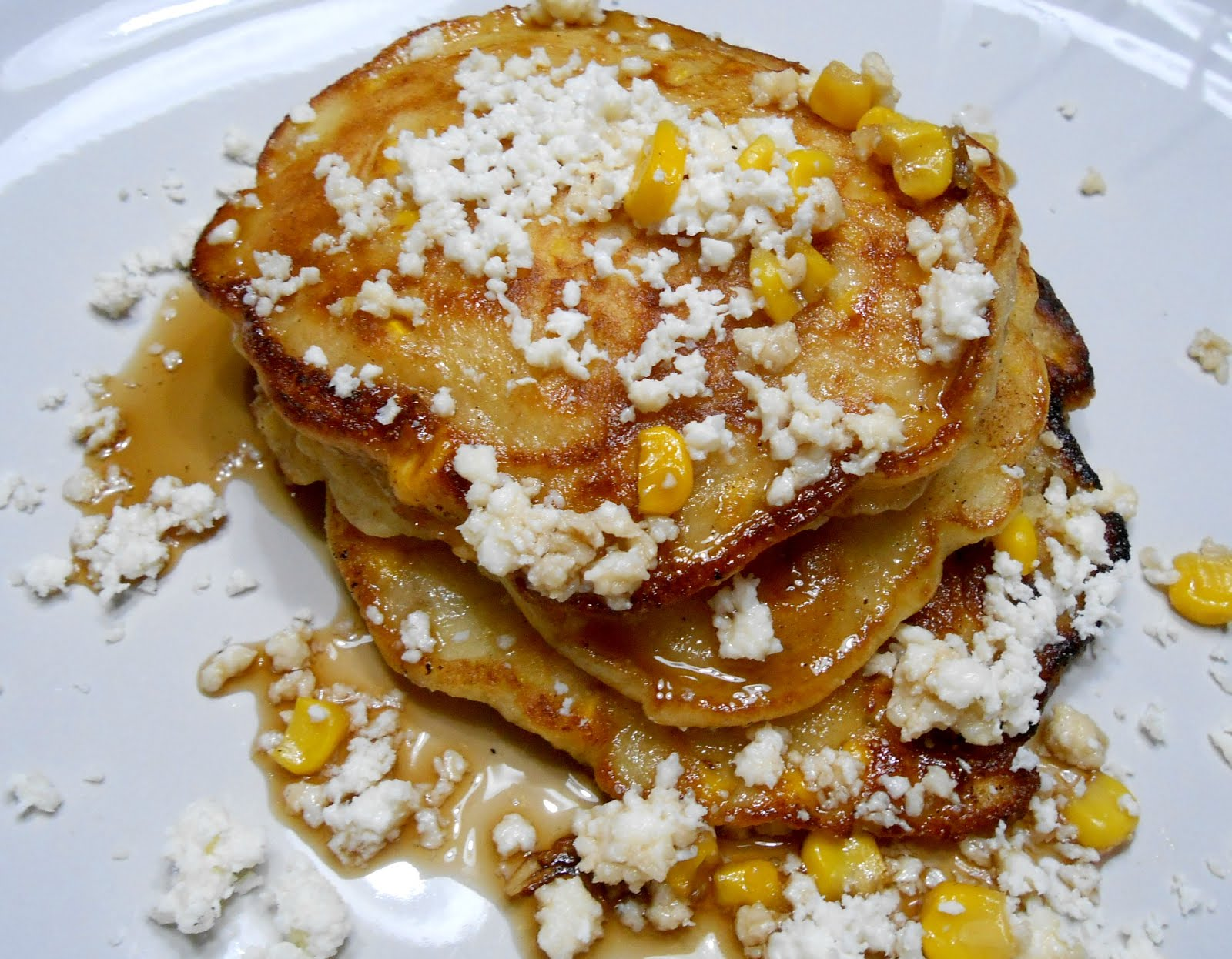 Sweet Corn Pancakes with Cotija Cheese | Not a Chef, but I can Cook!
