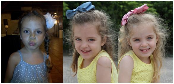 As 3 com 4 anos