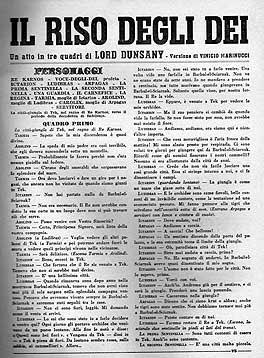 """Lord Dunsany, """"Il riso degli Dei"""" su Il Dramma n. 391-392, pagina"""