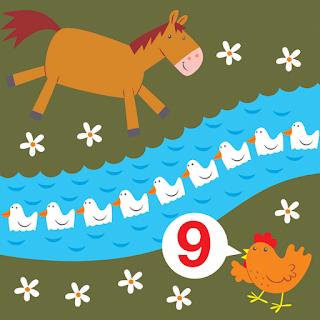 horse and hen count nine ducks