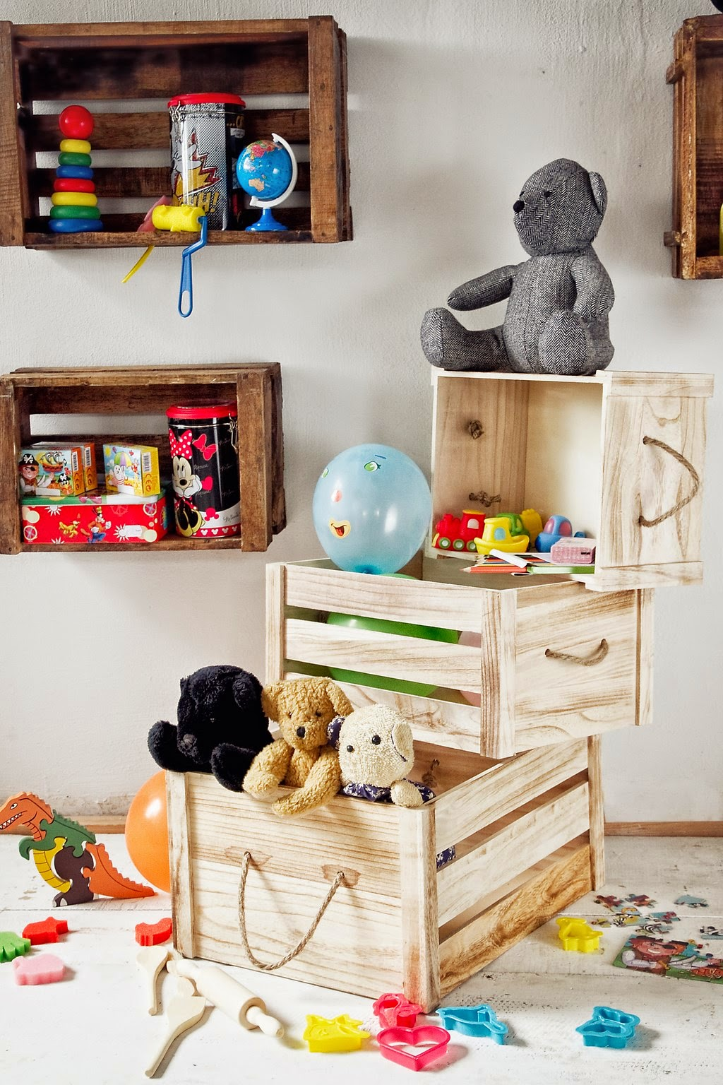 Marzua decoraci n con cajas de madera - Decoracion con cajas ...