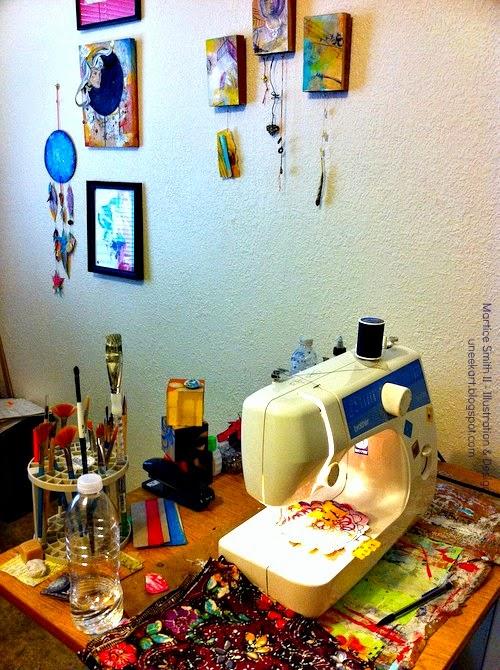 Artist Martice Smith II studio table #2