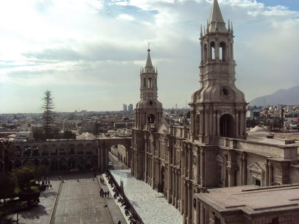 Arequipa Cathedral Plaza de Armas