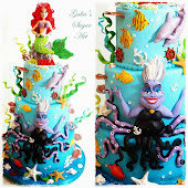 Cake with Ursula and Ariel