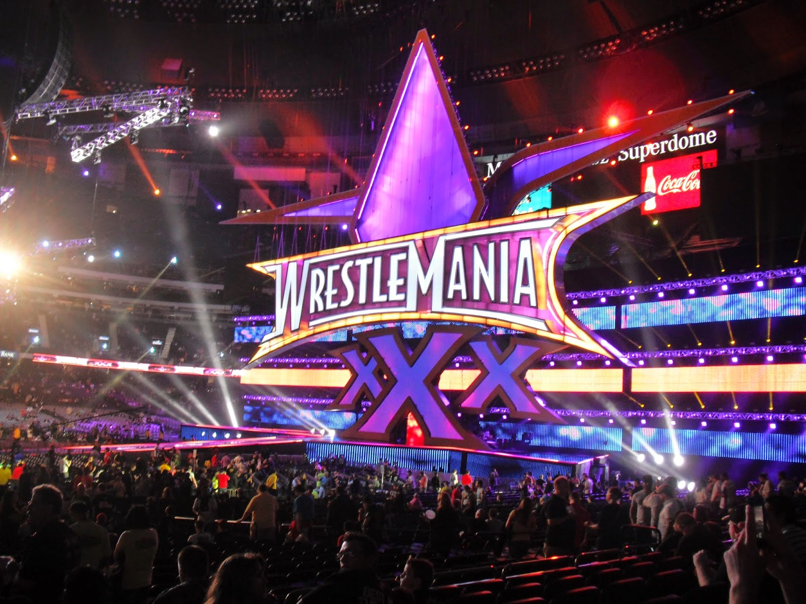 WrestleMania 30 XXX Stage New Orleans Live crowd Daniel Bryan Undertaker
