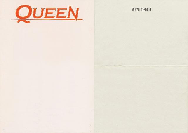 Queen Steve Martin letterhead