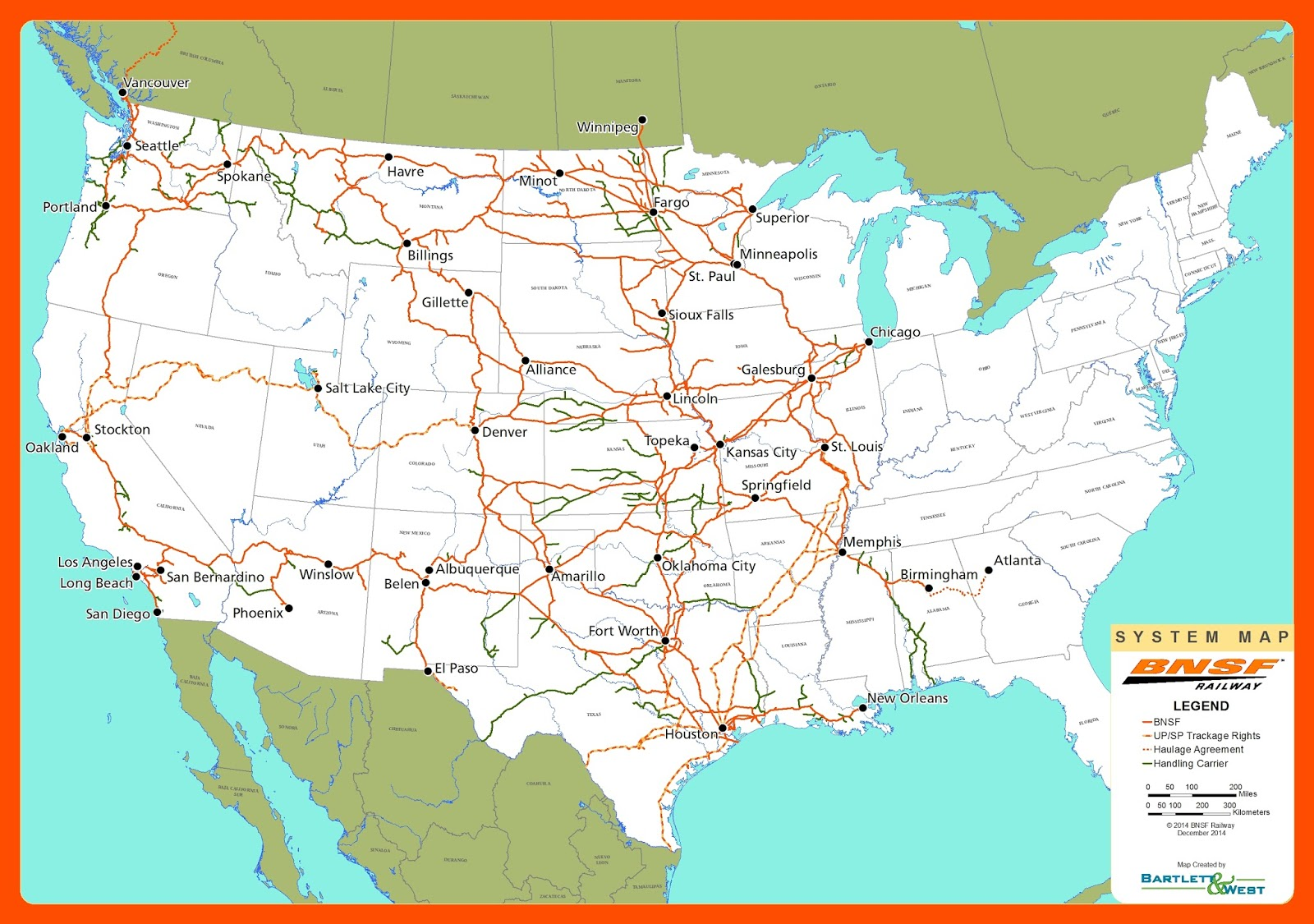 Delphi Value Investments Blog - Bnsf railway us map