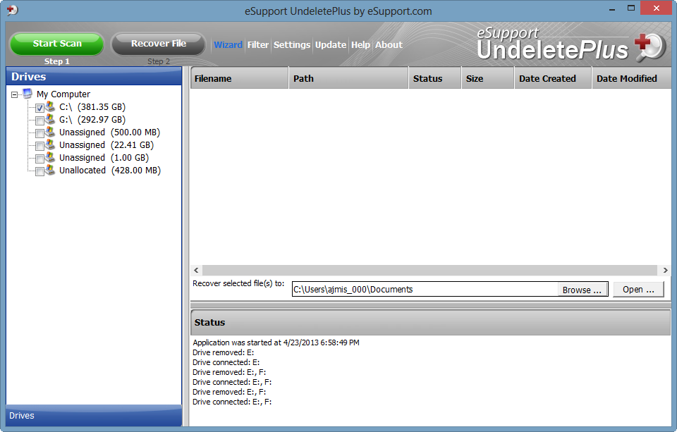 Great Data Recovery Utility From eSupport.com: UndeletePlus 3.0